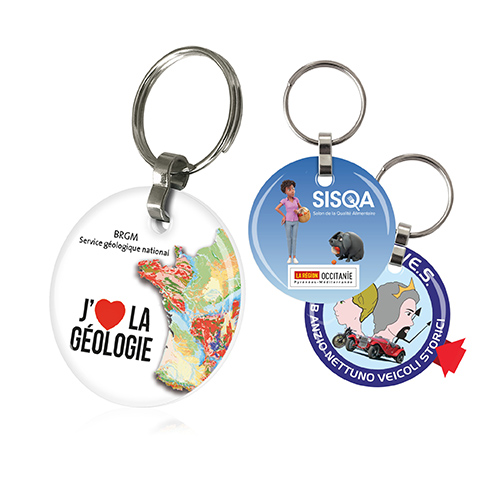 Porte-clefs 2 DOMING rond - AC 1528