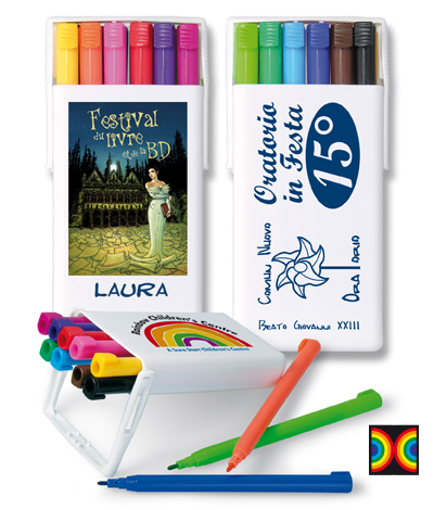 RAINBOW 12 colour felt pen set - CO 5012