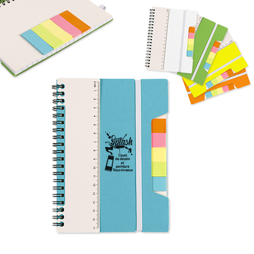 Spiral notebook with...