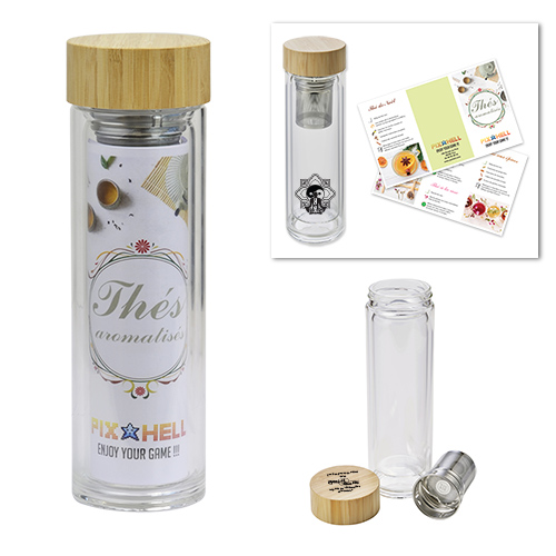 Thermos in glass and BAMBOO